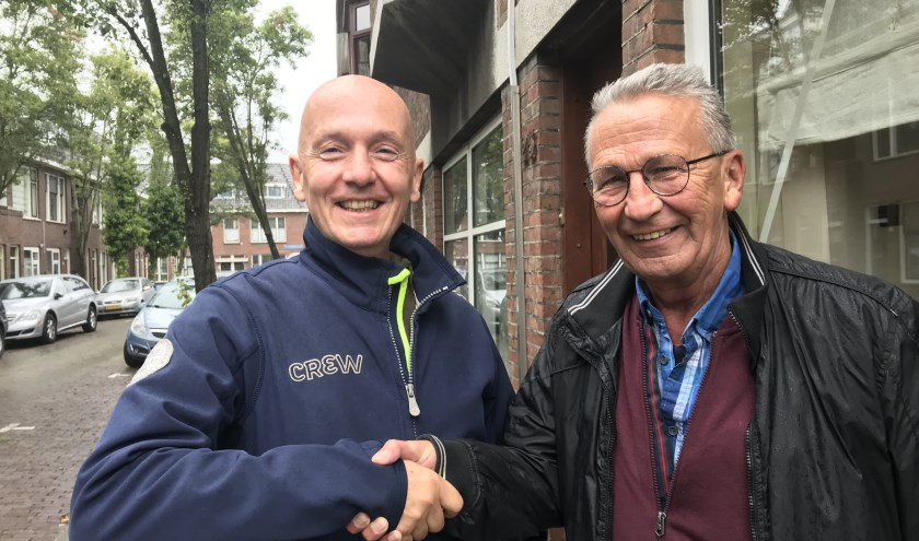 """Theodor van der Lans (Onafhankelijk Delft) en Aad Meuleman (Stadsbelangen Delft) hebben een goed gevoel over de fusie tussen beide partijen. """"Dat is in het belang voor de gewone Delftenaar."""""""