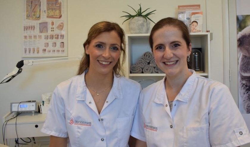 Nelleke Nijman en Marjolein Leeuwerik runnen sinds januari 2018 huidpraktijk Huid- en oedeemtherapie DuoDermis.