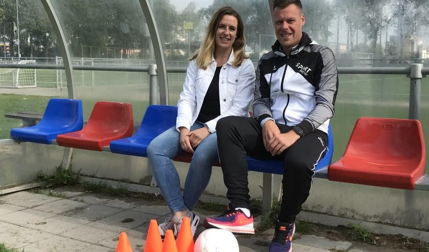 Leonie Gotink en Tom Linssen willen sport op een laagdrempelige manier aanbieden zodat iedereen er gebruik van kan maken