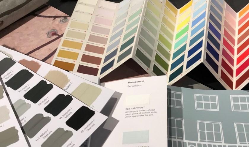 U gaat naar huis met concrete suggesties voor kleuren en behang.