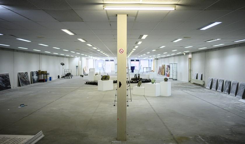 De nieuwe Museum voor Hedendaagse Kunst aan de Grotestraat 208 in Waalwijk wordt aanstaande zaterdag officieel geopend. Foto: Luuk Aarts