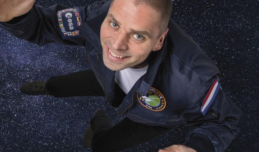 Astronaut André Kuipers en journalist Sander Koenen komen op zondag 3 november naar Parktheater Eindhoven met de ruimtevaartshow Space Academy. (Foto: John van Helvert).