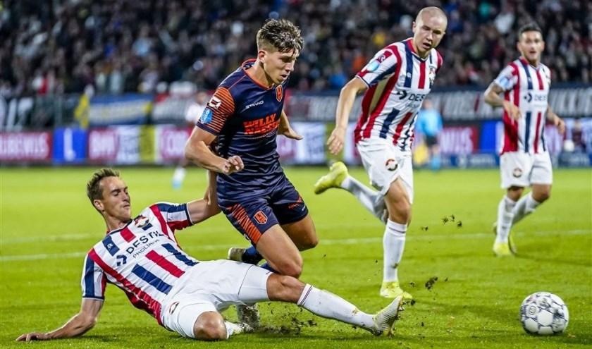 In Tilburg kwam Willem II al binnen een kwartier op een 2-0 voorsprong. Verder dan een aansluitingstreffer van Stanley Elbers kwam RKC jammergenoeg niet. Foto: ProShots