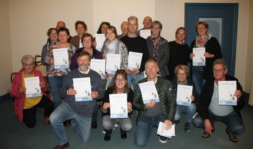 De hele vereniging van EHBO Brakel heeft de training 'Samen dementievriendelijk' gevolgd.