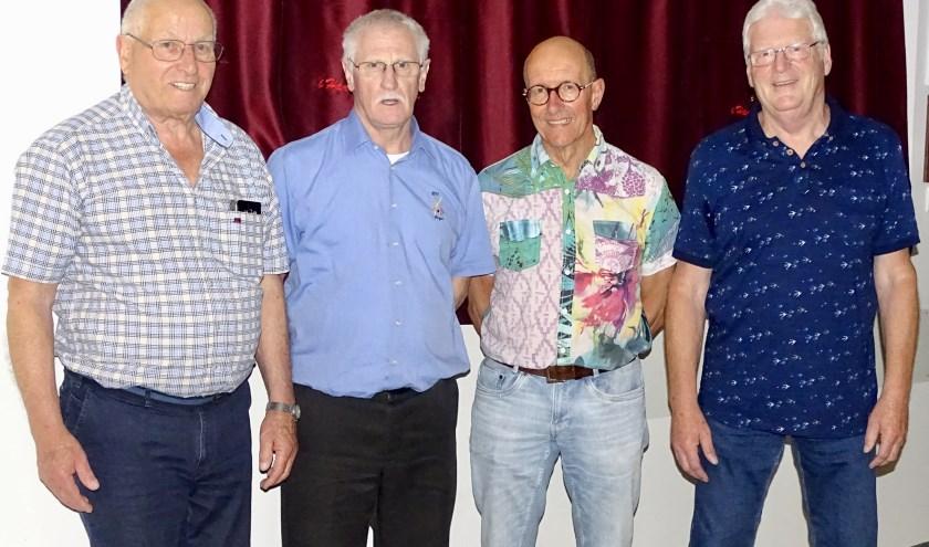 Bestuur SBK: v.l.n.r. Frans van Duuren Sr, Cees Kooijman, Jan van Beek en Ton Jansen
