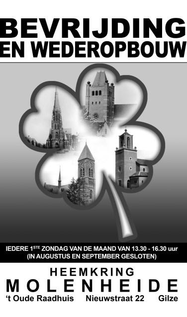Aan de hand van foto's, voorwerpen en verhalen vertelt Heemkring Molenheide over de Tweede Wereldoorlog, de bevrijding, maar vooral ook over de wederopbouw.