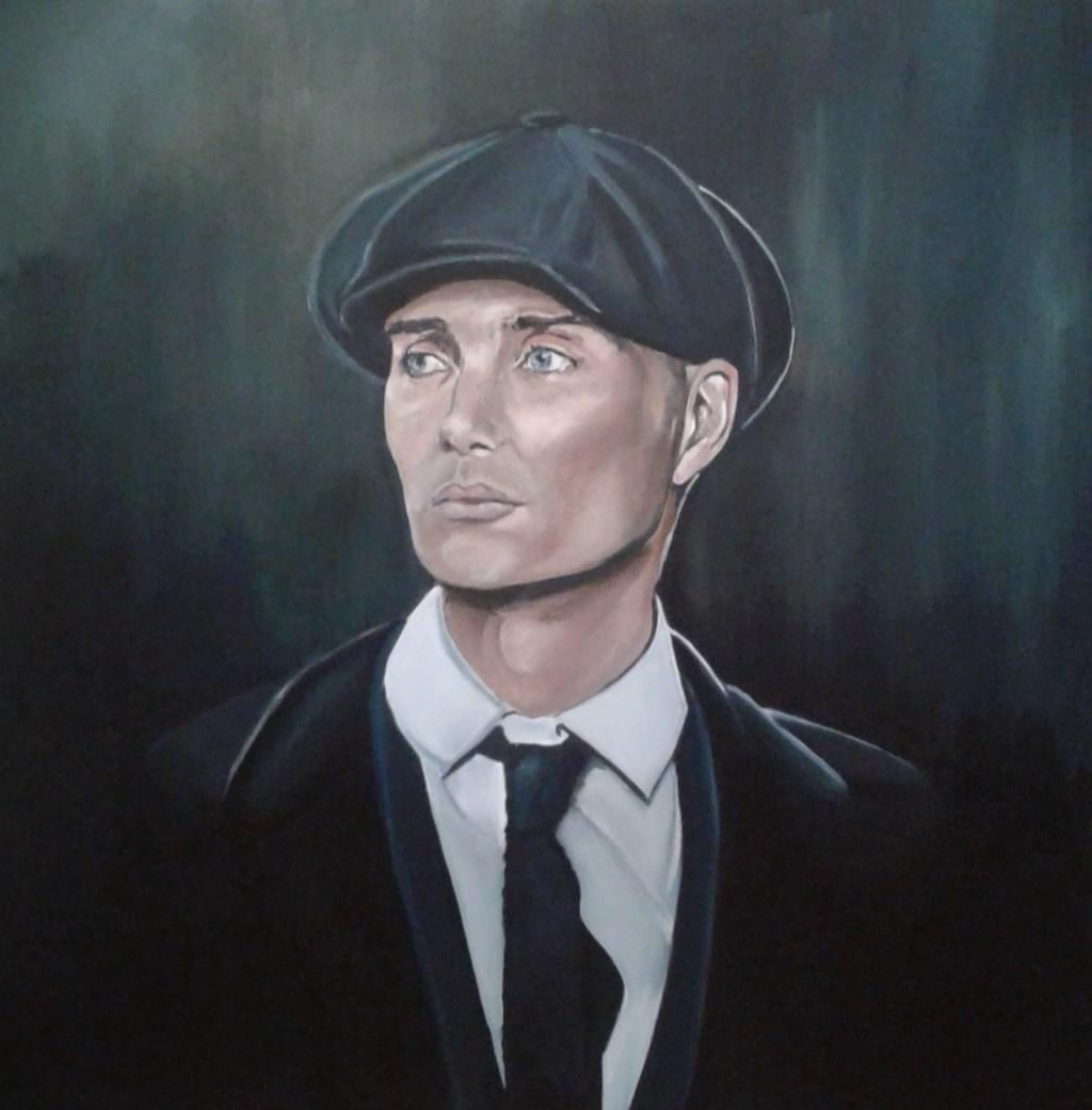 Karin Samsen schilderde een mooi portret van Tommy Shelby. Foto: Karin Samsen © DPG Media
