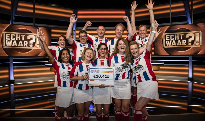 SIOS '61 uit Velp wint 10.415 euro in televisieprogramma Echt Waar?! Fotocredits Jurgen Jacob Lodder