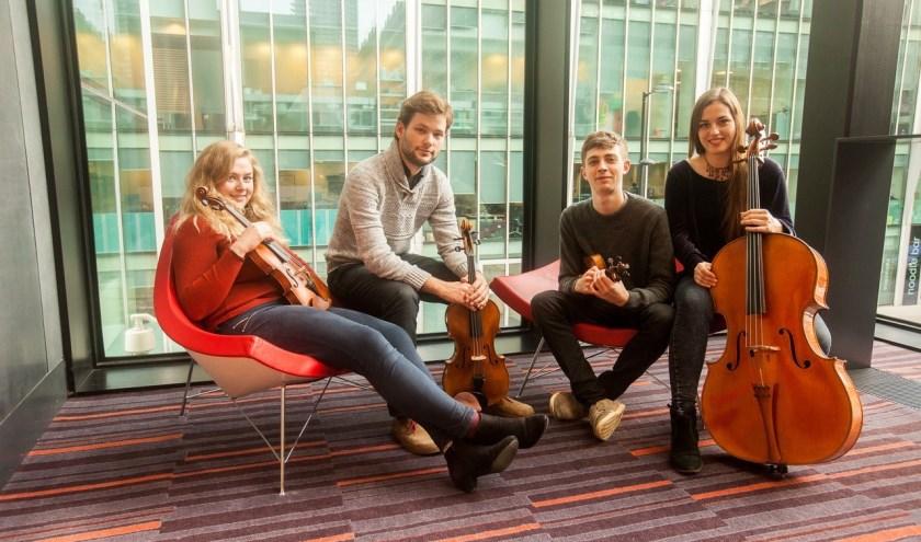 Tijdens het Culinair Lunchconcert treedt het Barbican String Quartet op. Ook daar alleen maar jonge musici. (Foto: PR)