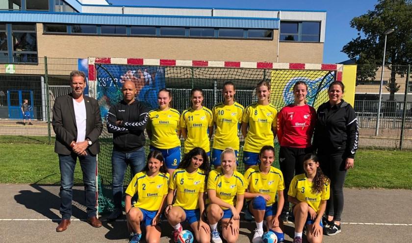 Dames b1 wist na een spannende wedstrijd met 1 punt verschil te winnen. (Foto: Privé)