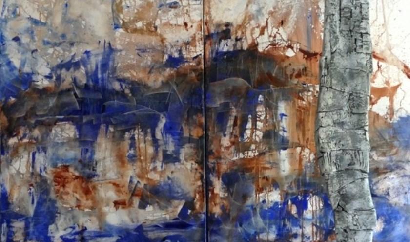 Schilderwerk van Marianne Jonker. Samen met Thea Blok exposeert ze haar kunst aan de Europalaan in Son.