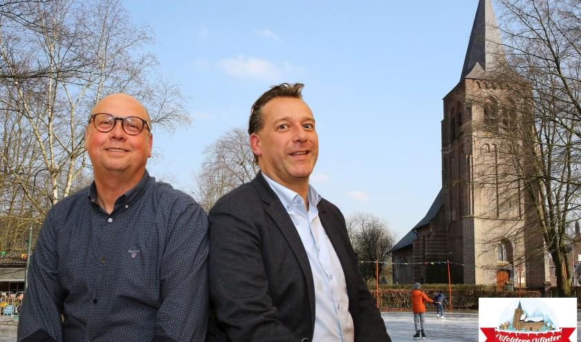 """Lou (l) en Koen:"""" De opbrengst van de collecte komt weer bij de Waalrenaren terug in de vorm van onze activiteiten."""" (foto Theo van Sambeek)"""