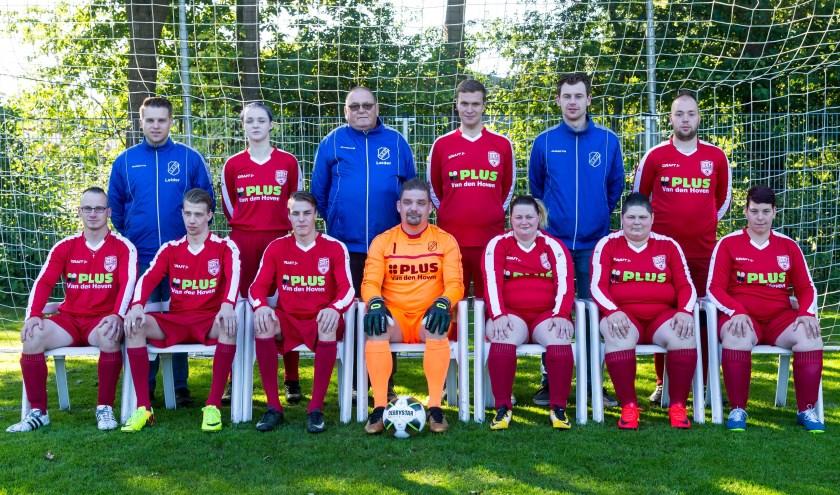 Het G-team van SEH. De meeste spelers komen uit de gemeente Heerde, maar een aantal ook uit omliggende plaatsen.