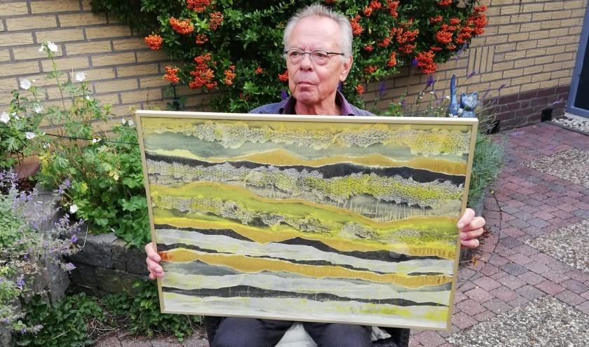Gerard Broer exposeert zijn geabstraheerde en gefingeerde landschappen in De Boskamp.
