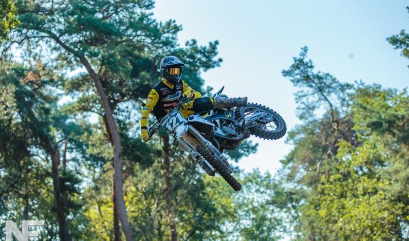 Marco Leerink strijdt zondag in Varsseveld bij Vamac om de streekcrosstitel. (Eigen foto)