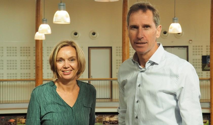 Anja Bos en Frederik Swart van GoedVolk willen een bijdrage leveren aan een duurzame Heuvelrug. FOTO: Ellis Plokker