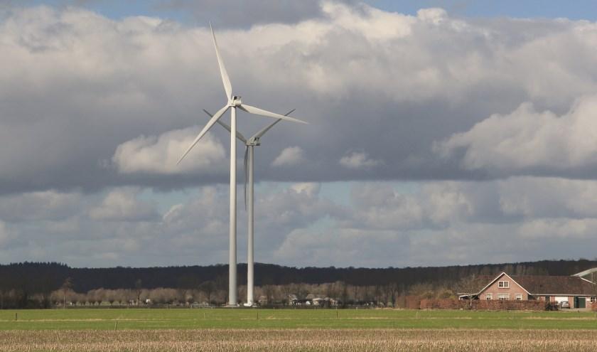 De windmolens in het Duivense Broek.