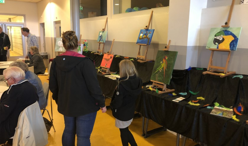 De reacties waren lovend over de kwaliteit van de kunstwerken.