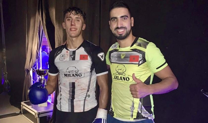 Yassine El Bouhali en Mohamed el Bouziri. (foto: Senna Willemsen)