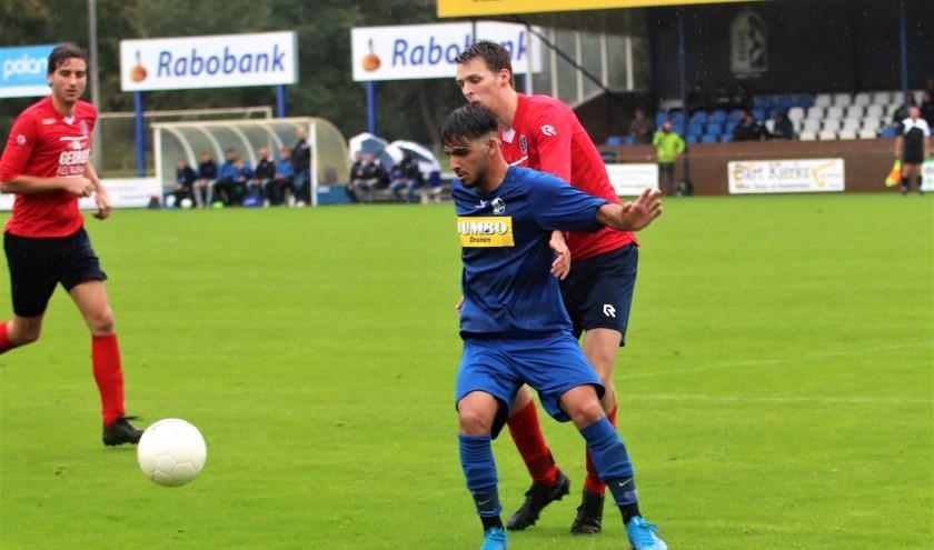 RKDVC ontving de Oisterwijkse fusieclub Trinitas. In een gelijk opgaand duel werd het 1-1. De Drunenaren snakken naar de eerste overwinning. Foto: Wout Pluijmert