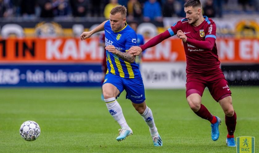 RKC leek zondag op weg naar de eerste drie punten van het seizoen. Na een rode koort voor Vitesse gingen de Geelblauwen op zoek naar de overwinning, maar kregen uiteindelijk de deksel op de neus. Foto: proShots