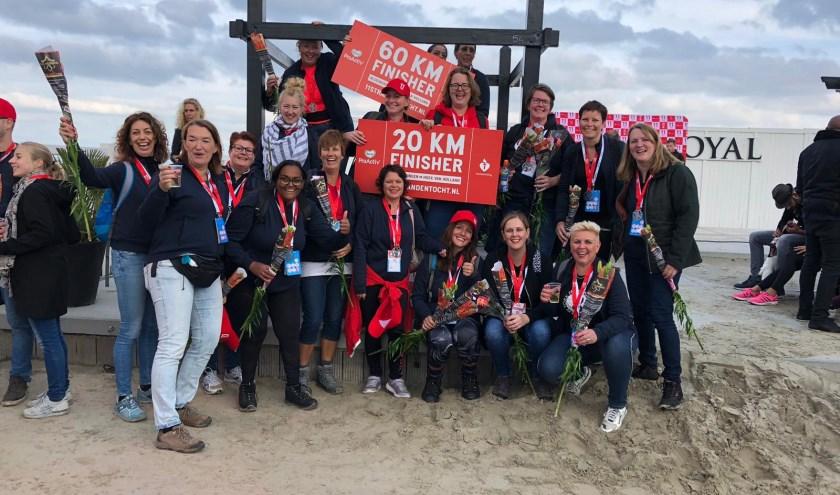 Veense Hart ladies bij finish Hoek v Holland