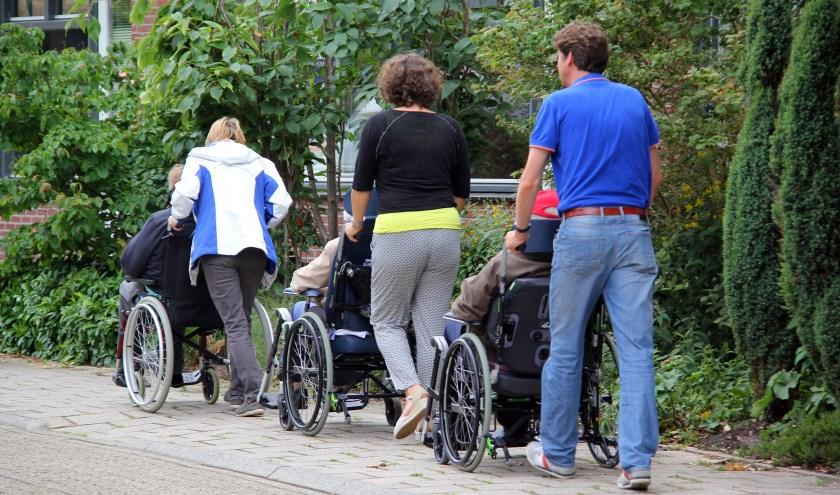 Wandelen met bewoners van De Loericker Stee. Foto: Ria van der Ham
