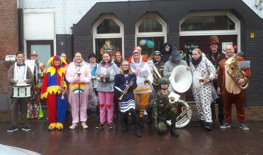 Drumfanfare PCL is klaar voor de Goet Vout Party die binnenkort wordt gehouden. (foto: PR)