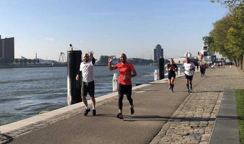 Deelnemers van de New York Mini Marathon.