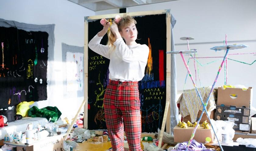 Afra Eisma in haar studio