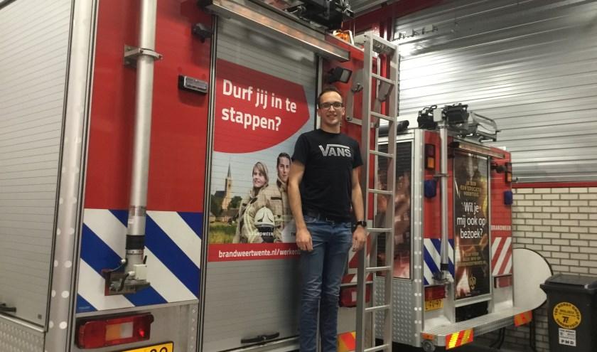 """Stijn Klaassen: """"Je kan wat betekenen als de nood aan de man is. Mensen bellen 112 en dan komen we helpen, dat geeft een goed gevoel."""" (Foto: Roselien Slagers / Stichting De Welle)"""