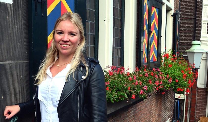 Lianne van Kalken (GroenLinks) heeft plezier in het gemeenteraadswerk (Foto Frans Assenberg).