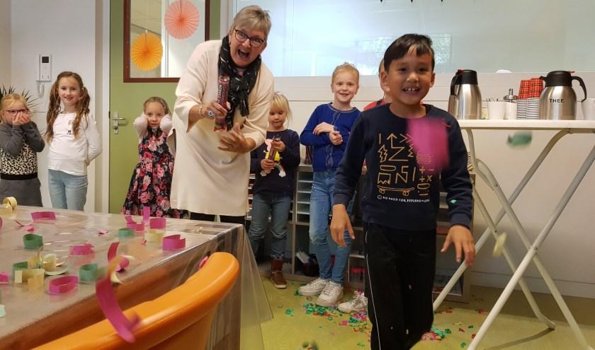 Kinderen en personeel hadden een leuke openingsdag van bso Kleurrijk van Koppel-Swoe.