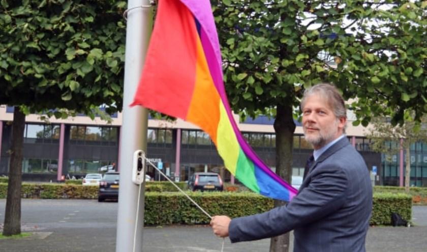 'Gelukkig wonen we in een land waar je mag zijn wie je bent', aldus wethouder Ro van Doesburg. Eigen foto