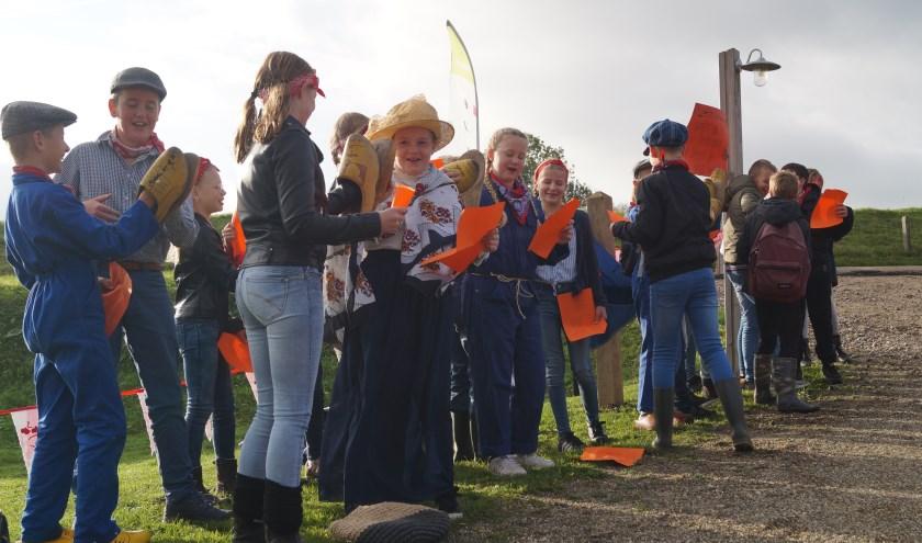 De leerlingen van de Brakelse Willem van Oranjeschool hadden speciaal een lied geschreven voor de opening van het Jordenpad.