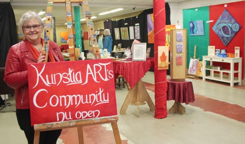 Sylvia te Braake opende haar Kunstig Art's Community met grote plannen voor levendigheid in de binnenstad. (Foto: Lysette Verwegen)