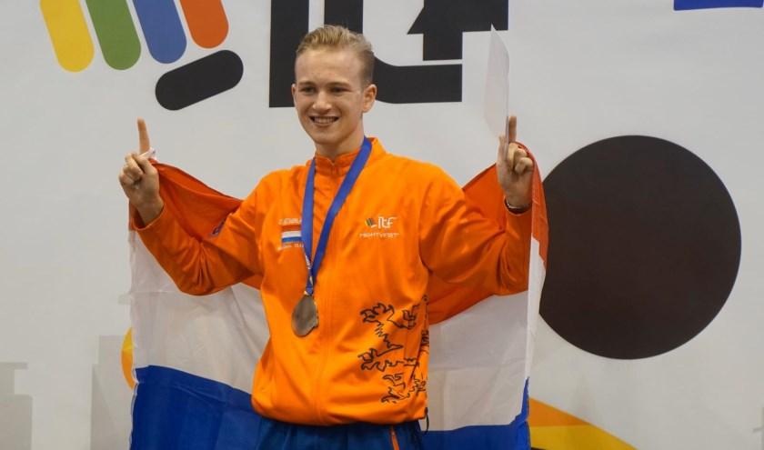 Een trotse Chris van de Veerdonk (foto: privé-bezit).