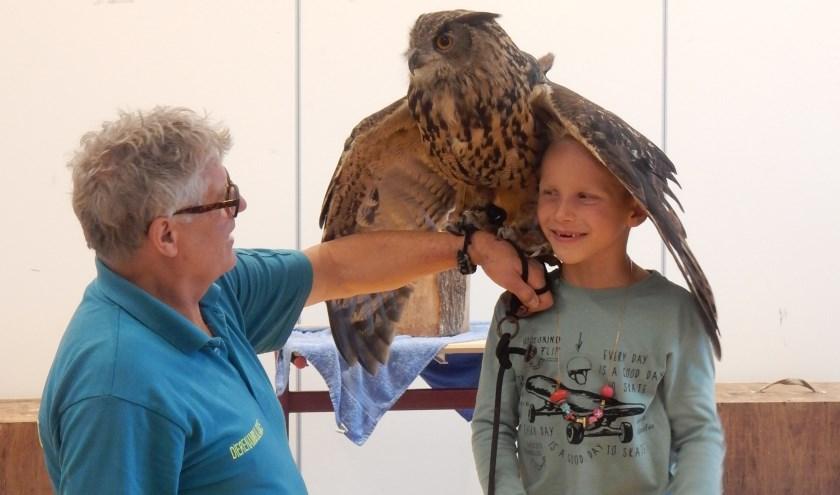 Een gastles over uilen. (Foto: Privé)