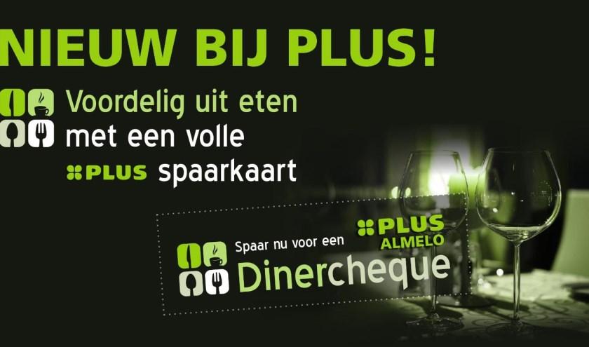 Spaar mee bij Plus Almelo en besteed je cheque bij een van de deelnemende restaurants