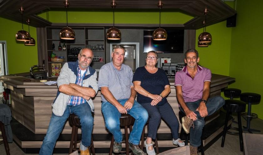 v.l.n.r. Jan Flamelink, Ad Helmons, Constance van Broekhoven, Peter Suijkerbuijk.foto: Marjan Stolk