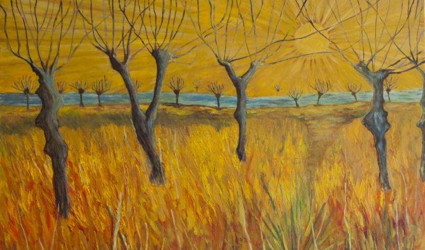 titel: Salut d'honneur, olie op canvas, 100 - 120