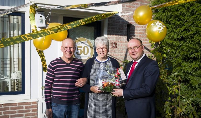 Fam. van de Graaf 50 jaar getrouwd. (Foto: gemeente Sliedrecht)
