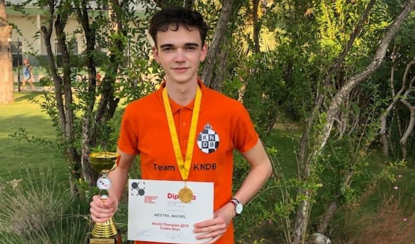 Machiel Weistra is nu ook wereldkampioen. Foto: KNDB
