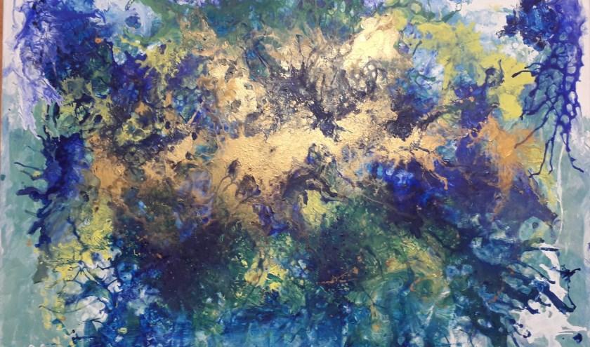 """Schilderij """"elements"""" acryl op doek 3 D ,xxl"""
