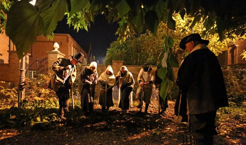De bezoekers werden meegenomen op een tijdreis door de geschiedenis van de Vijfheerenlanden. Foto: Peter van Meurs