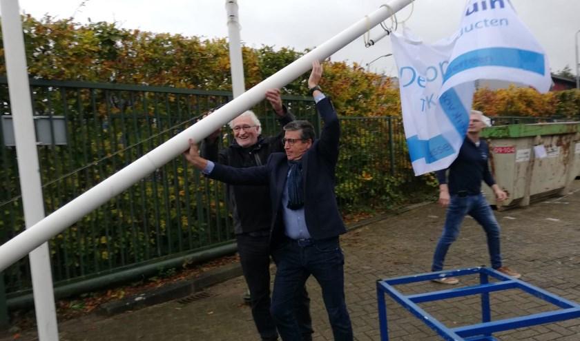De vlag is gehesen!