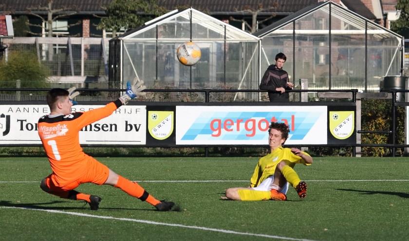 Robin Klompenhouwer scoort de 1-0.