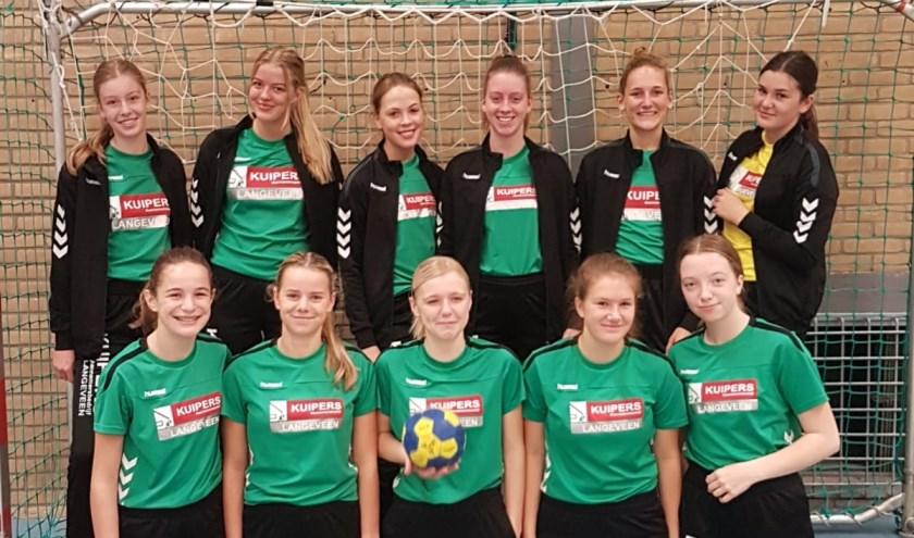 Kedingen heeft circa 105 leden van verschillende leeftijden die spelen in één van de acht teams, zoals dames B1. (Eigen foto).