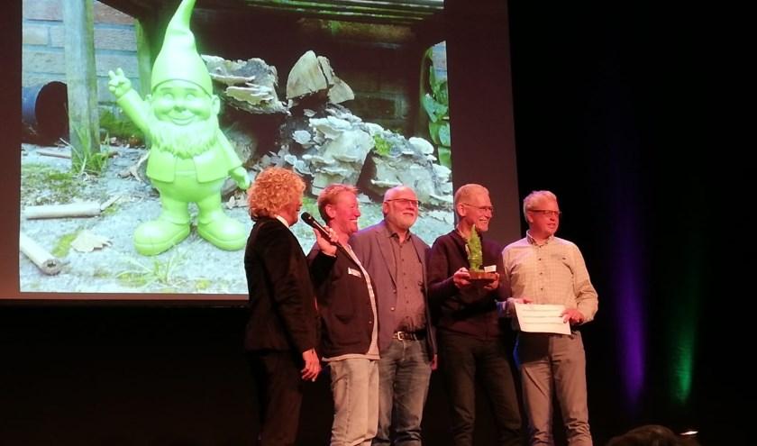 Iwan Göbel, Herro de Roest, Harry Olthof, Jan Nije Bijvank (Platform Duurzaam Hellendoorn) en Roelof-Jan Naaktgeboren (IM@Overijssel).