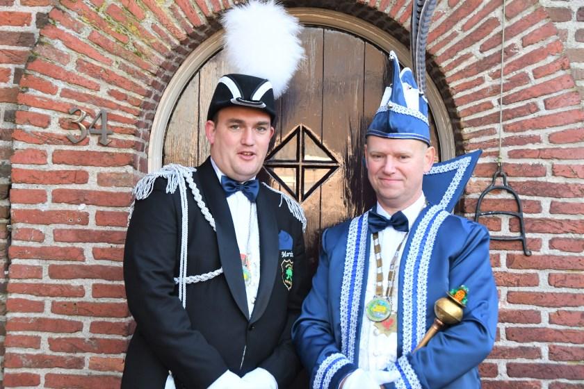 Prins Albèr en Adjudant Martin van Helmond.
